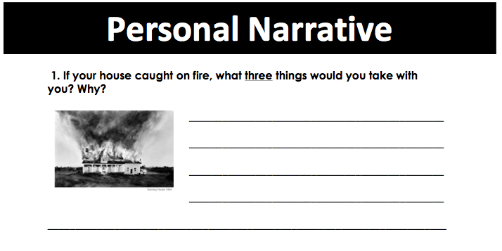 Essay prompts middle school