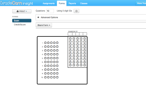 Generate a form for students with any number of questions/ digits in student ID.
