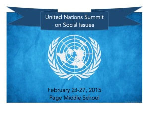 UN Summit on Social Issues Poster