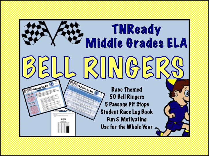TNReady Bell Ringer Races For Middle Grades ELA