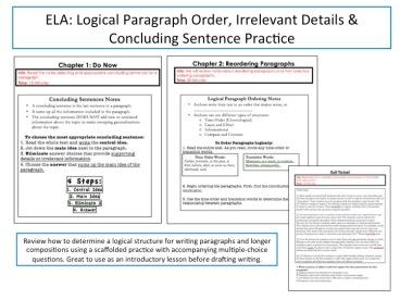 logical order in essays
