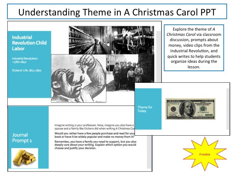 theme in christmas carol tpt products - What Is The Theme Of A Christmas Carol