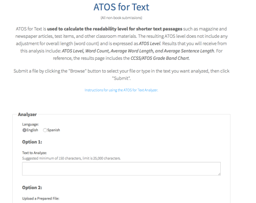ATOS for Text