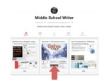 Middle School Writer Pinterest