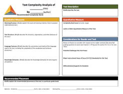 Text Complexity Evaluation Rubric >> Link to File: http://bit.ly/1IbXLCP