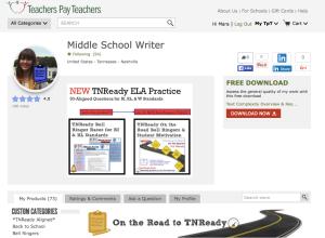 Image of Middle School Writer's Teachers Pay Teachers Store